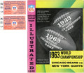 Football Collectibles:Programs, 1963 NFL Championship Program and Pair of Ticket Stubs Lot of 3....