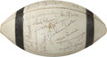 Football Collectibles:Balls, 1971 Baltimore Colts Team Signed Football....