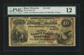National Bank Notes:Wisconsin, Ripon, WI - $10 1882 Brown Back Fr. 484 The German NB Ch. # (M)4305. ...