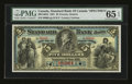 Canadian Currency: , Toronto, ON- The Standard Bank of Canada $5 May 1, 1891 695-14-02SSpecimen. ...