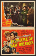 """Movie Posters:Romance, The Flame of New Orleans (Universal, 1941). Title Lobby Card and Lobby Card (11"""" X 14""""). Romance.. ... (Total: 2 Items)"""