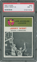Basketball Cards:Singles (Pre-1970), 1961 Fleer Jerry West In Action #66 PSA NM 7....