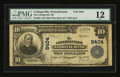 National Bank Notes:Pennsylvania, Collegeville, PA - $10 1902 Plain Back Fr. 626 The Collegeville NBCh. # 8404. ...
