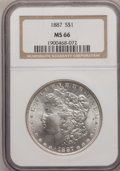 Morgan Dollars: , 1887 $1 MS66 NGC. NGC Census: (3006/252). PCGS Population(1248/67). Mintage: 20,290,710. Numismedia Wsl. Price forproblem...