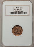 Proof Indian Cents, 1870 1C PR65 Red and Brown NGC....