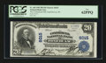 National Bank Notes:Wisconsin, Fond Du Lac, WI - $20 1902 Plain Back Fr. 660 The Commercial NB Ch. # 6015. ...