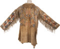 American Indian Art:Beadwork and Quillwork, A POTAWATOMI BEADED AND FRINGED HIDE JACKET. c. 1860...