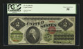 Large Size:Legal Tender Notes, Fr. 41 $2 1862 Legal Tender PCGS Choice About New 58....
