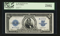 Large Size:Silver Certificates, Fr. 282 $5 1923 Silver Certificate Star Note PCGS Superb Gem New67PPQ....