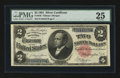 Large Size:Silver Certificates, Fr. 246 $2 1891 Silver Certificate PMG Very Fine 25....