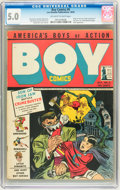 Golden Age (1938-1955):Crime, Boy Comics #6 (Lev Gleason, 1942) CGC VG/FN 5.0 Off-white to white pages....