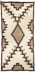 American Indian Art:Weavings, AN EARLY NAVAJO REGIONAL RUG . Crystal. c. 1905...
