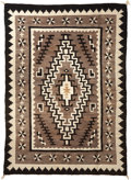 American Indian Art:Weavings, A NAVAJO REGIONAL RUG. Two Grey Hills. c. 1945...