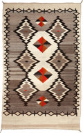 American Indian Art:Weavings, A NAVAJO REGIONAL RUG. Crystal. c. 1895. ...