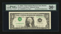 Error Notes:Inverted Third Printings, Fr. 1917-A $1 1988A Web Federal Reserve Note. PMG Very Fine 30EPQ.. ...