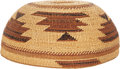 American Indian Art:Baskets, A NORTHERN CALIFORNIA TWINED MAIDEN'S CAP. c. 1920...