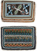 American Indian Art:Beadwork and Quillwork, TWO MICMAC BEADED CLOTH WALLETS. c. 1870... (Total: 2 Items)