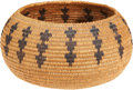 American Indian Art:Baskets, A MAIDU COILED BOWL. c....