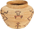 American Indian Art:Baskets, A SHOSHONE COILED JAR. c. 1920...