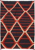 American Indian Art:Weavings, A LATE CLASSIC NAVAJO SERAPE . c. 1875...