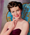Pin-up and Glamour Art, AMERICAN ARTIST (20th Century). Portrait of a Woman. Oil oncanvas. 23.75 x 20.5 in.. Not signed. ...
