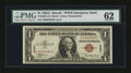 Small Size:World War II Emergency Notes, Fr. 2300 $1 1935A Hawaii Silver Certificate. Scarce A-C Block. PMG Uncirculated 62.. ...