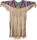 American Indian Art:Beadwork and Quillwork, A PLATEAU BEADED HIDE DRESS. c. 1920...