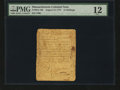Colonial Notes:Massachusetts, Massachusetts August 18, 1775 12s PMG Fine 12....