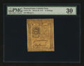 Colonial Notes:Pennsylvania, Pennsylvania March 20, 1773 14s PMG Very Fine 30....