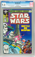 Modern Age (1980-Present):Science Fiction, Star Wars #57 (Marvel, 1982) CGC NM/MT 9.8 White pages....