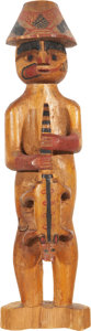 American Indian Art:Wood Sculpture, A NORTHWEST COAST POLYCHROME WOOD SCULPTURE. c. 1920...