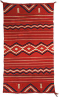 American Indian Art:Weavings, A LATE CLASSIC NAVAJO CHILD'S WEARING BLANKET . c. 1865. ...