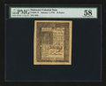 Colonial Notes:Delaware, Delaware January 1, 1776 18d PMG Choice About Unc 58....