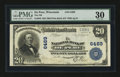 National Bank Notes:Wisconsin, De Pere, WI - $20 1902 Plain Back Fr. 650 The NB of De Pere Ch. # 6469. ...