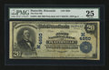 National Bank Notes:Wisconsin, Platteville, WI - $20 1902 Plain Back Fr. 654 The First NB Ch. # (M)4650. ...