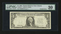 Error Notes:Third Printing on Reverse, Fr. 1921-F $1 1995 Federal Reserve Note. PMG Very Fine 30.. ...