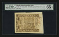 Colonial Notes:Rhode Island, Rhode Island May 1786 10s PMG Gem Uncirculated 65 EPQ....