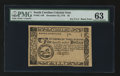 Colonial Notes:South Carolina, South Carolina December 23, 1776 $5 PMG Choice Uncirculated 63....