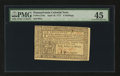 Colonial Notes:Pennsylvania, Pennsylvania April 10, 1777 6s PMG Choice Extremely Fine 45....
