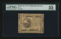 Colonial Notes:Continental Congress Issues, Continental Currency May 10, 1775 $6 PMG About Uncirculated 55....
