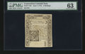 Colonial Notes:Connecticut, Connecticut June 7, 1776 3s PMG Choice Uncirculated 63....