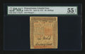 Colonial Notes:Pennsylvania, Pennsylvania April 10, 1775 50s PMG About Uncirculated 55 EPQ....