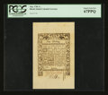Colonial Notes:Rhode Island, Rhode Island May 1786 1s PCGS Superb Gem New 67PPQ....