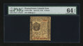 Colonial Notes:Pennsylvania, Pennsylvania April 25, 1776 9d PMG Choice Uncirculated 64 EPQ....