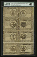 Colonial Notes:Continental Congress Issues, Continental Currency May 9, 1776 Counterfeit Detector Sheet ofEight PMG Uncirculated 60....