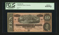 Confederate Notes:1864 Issues, T68 PF-44 $10 1864.. ...