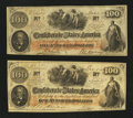 Confederate Notes:1862 Issues, T41 PF-11 $100 1862. T41 PF-16 $100 1862.. ... (Total: 2 notes)