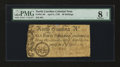Colonial Notes:North Carolina, North Carolina April 4, 1748 40s PMG Very Good 8 Net....