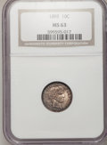 Barber Dimes, 1895 10C MS63 NGC....