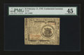 Colonial Notes:Continental Congress Issues, Continental Currency February 17, 1776 $1 PMG Choice Extremely Fine45....